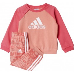 Adidas Tracksuit Kids I ST TERRY JOGGER SET Pink Coral CE9641